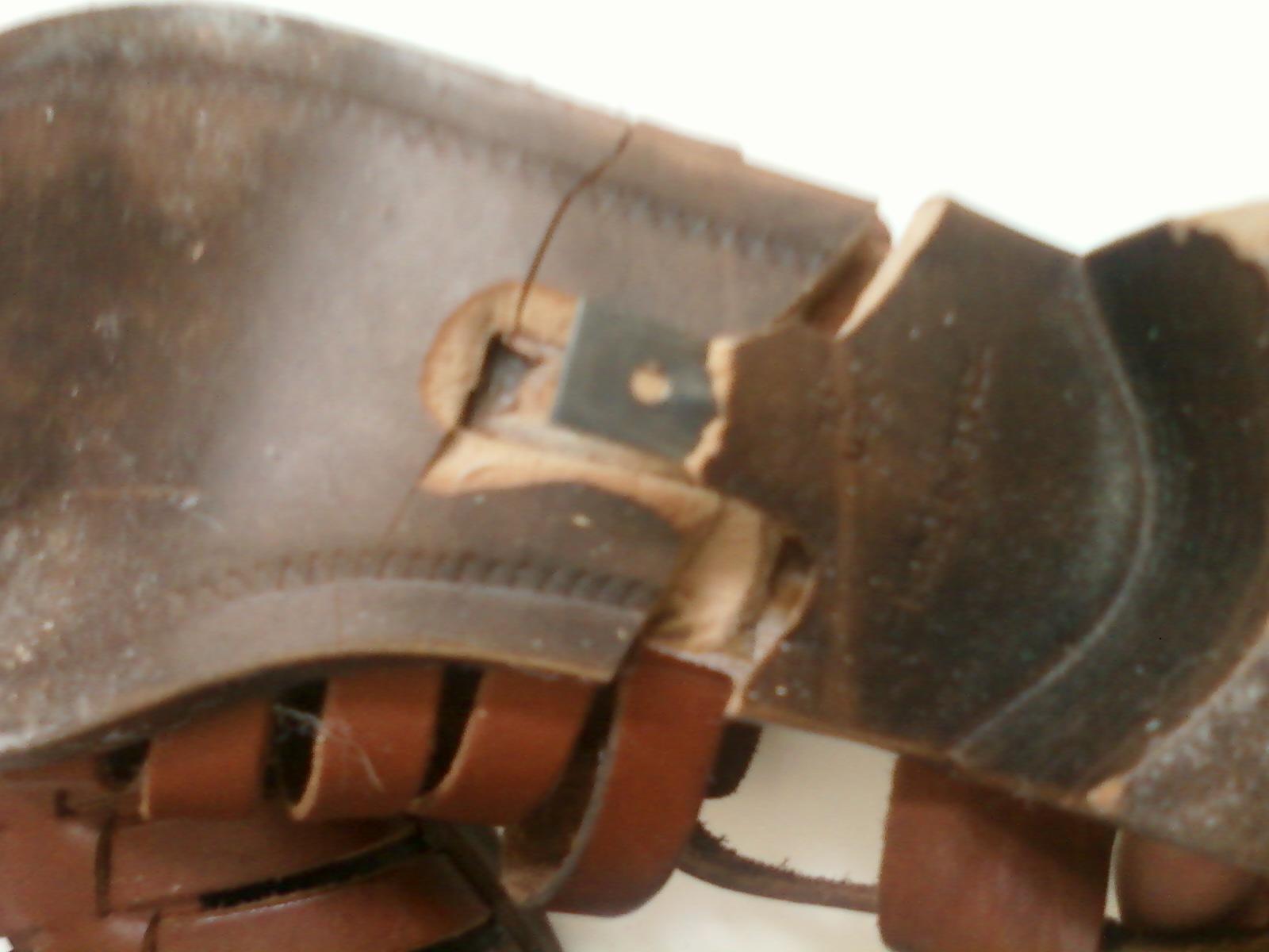 Metal in broken shoe